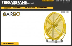 The Big Ass Fan Website.  See, I told you it was real!