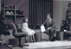 A young Trish being interviewed on the syndicated Bob Braun Show in Cincinnati, Ohio in December of 1983..