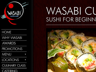 Wasabi Sushi Bar Website