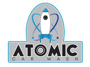 Atomic Car Wash Branding