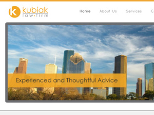 Kubiak Law Firm Website