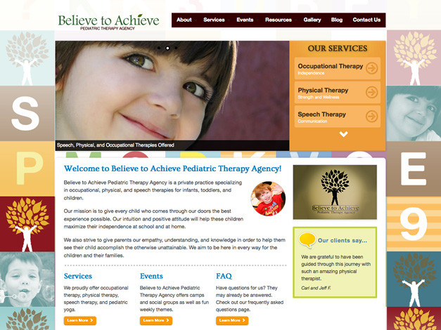 Believe to Achieve Homepage