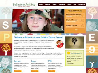 Believe to Achieve Pediatric Therapy Agency Website