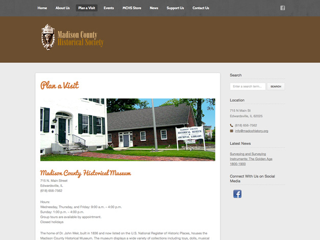 Plan A Visit Page