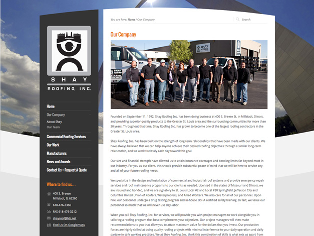 Our Company Page
