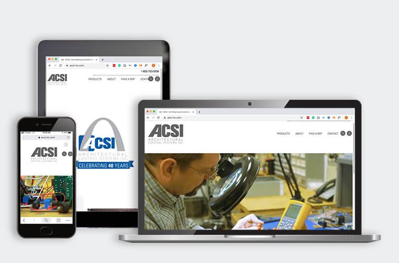 Think Tank ACSI webpage mockup