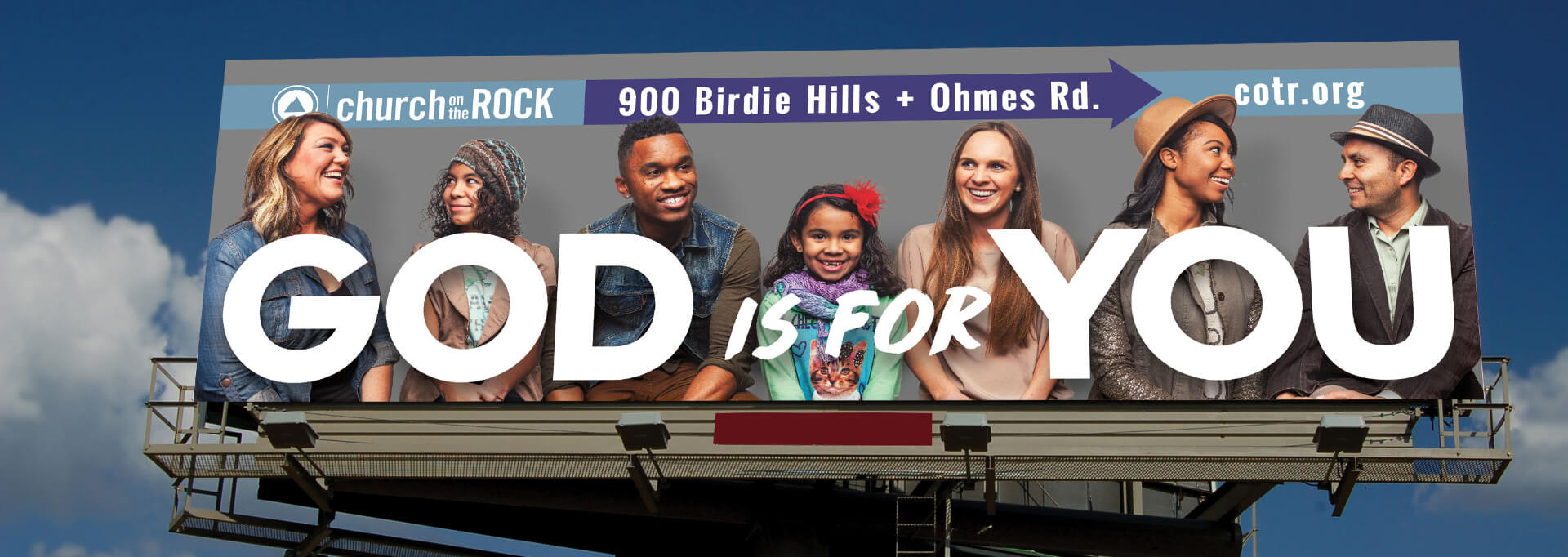 Church on the Rock billboard