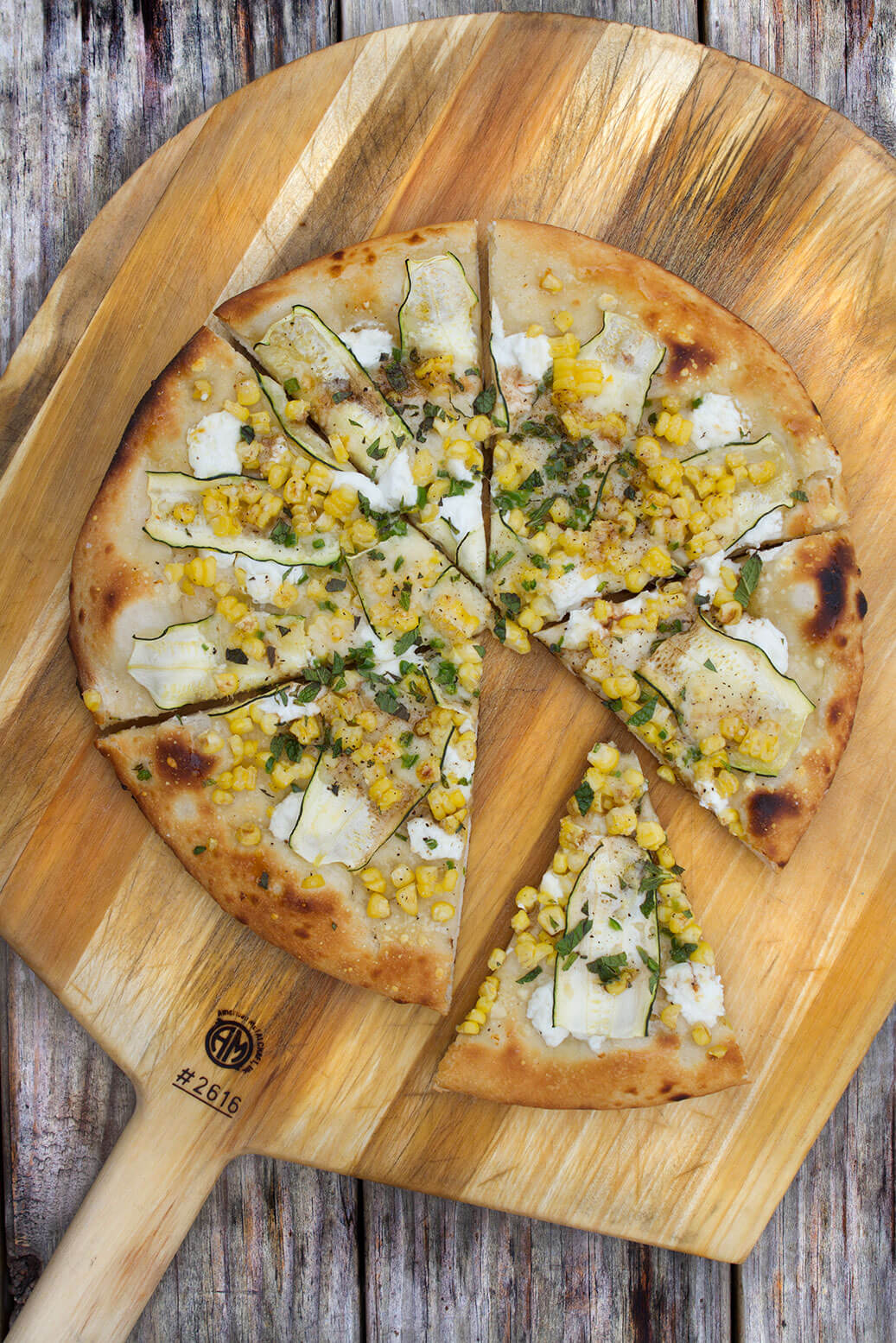 corn pizza