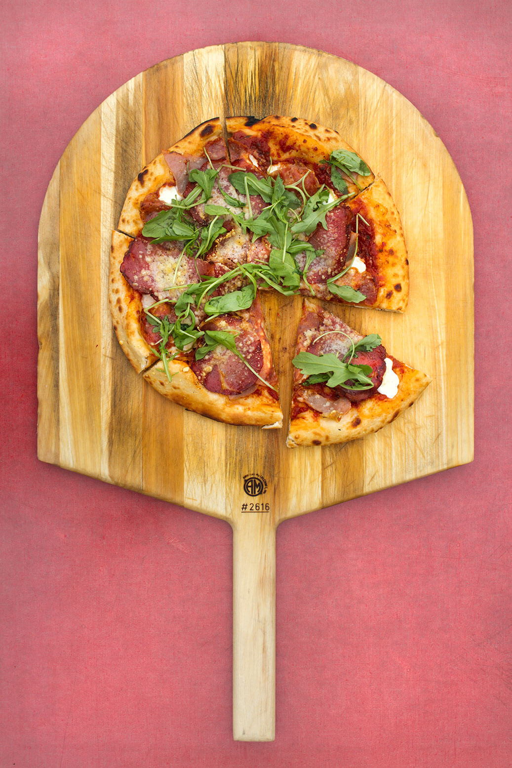 cured meats pizza