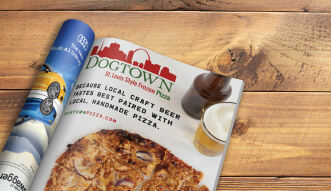 Dogtown Pizza magazine ad