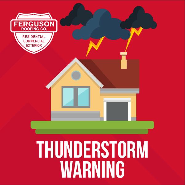 Think Tank social media ferguson roofing thunderstorm warning