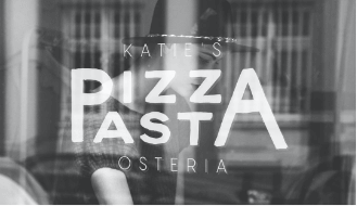 Katies Pizza and Pasta Osteria window logo