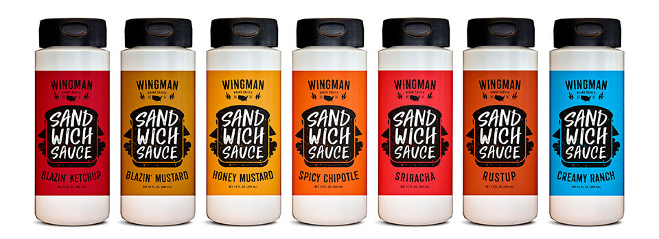 Wingman Sandwich Sauce bottles