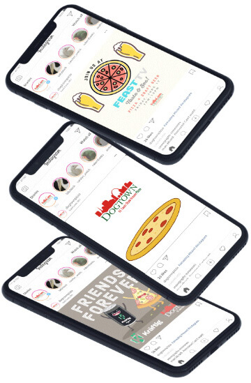 Dogtown Pizza social media mockup
