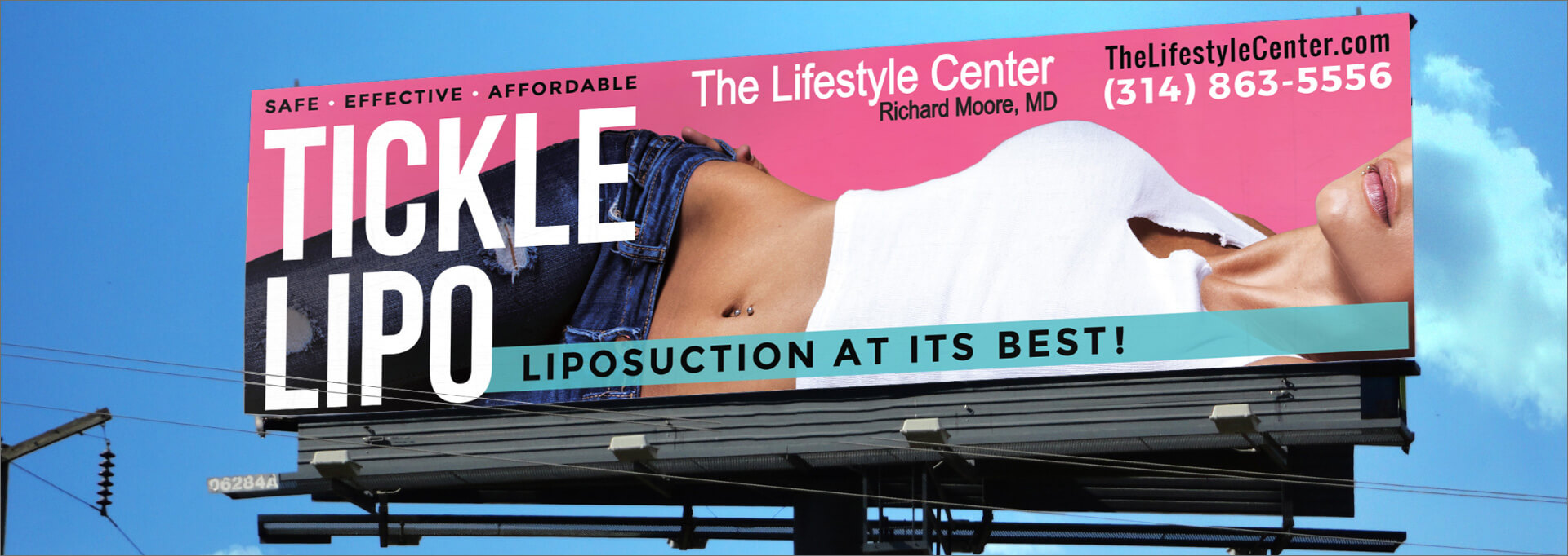 The Lifestyle Center tickle lipo billboard