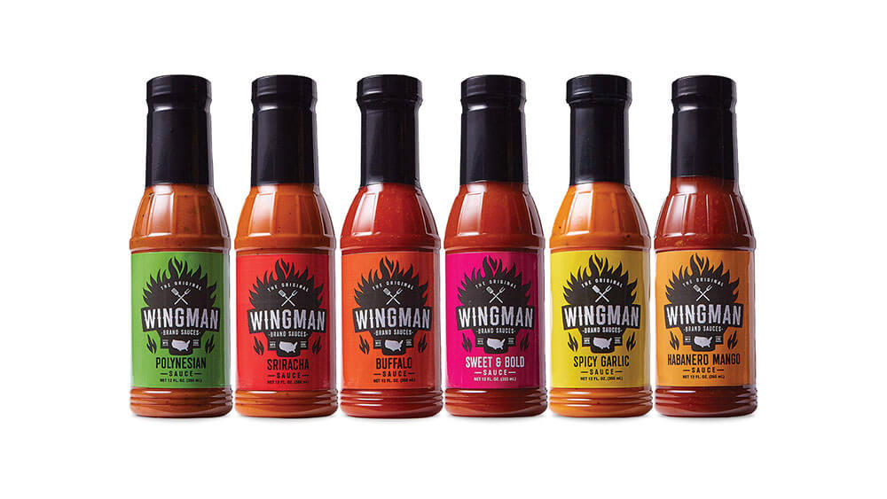 Wingman sauce bottles